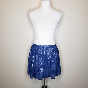 🌵Abercrombie & Fitch blue floral mini skirt